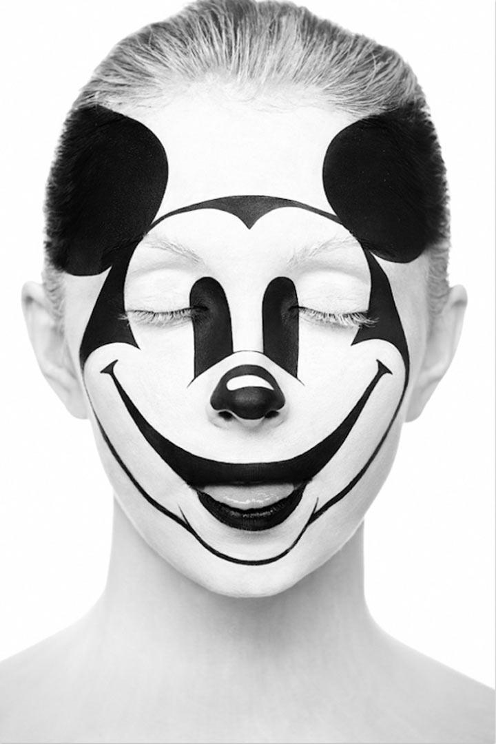 schwarzweiße Gesichtsillustrationen face_illustrations_08