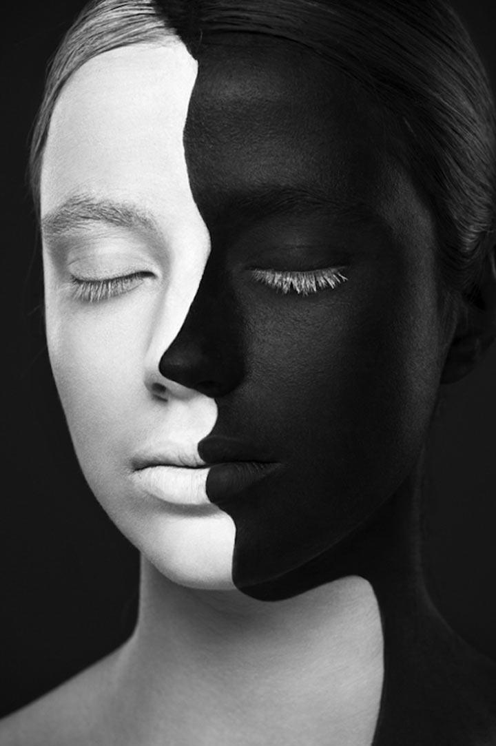 schwarzweiße Gesichtsillustrationen face_illustrations_09