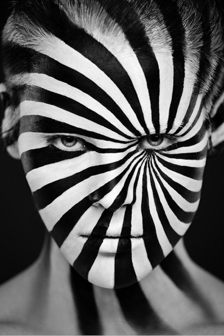 schwarzweiße Gesichtsillustrationen face_illustrations_10