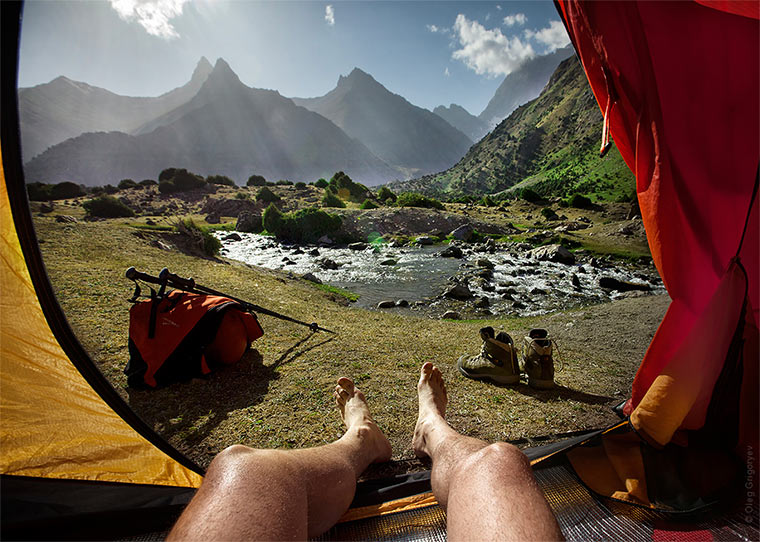 Traumhafter Blick aus dem Zelt