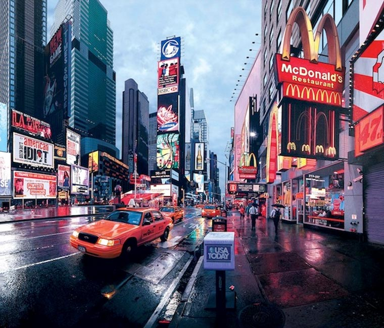 fotorealistische Stadtszenerie-Gemälde Bertrand_Meniel_01