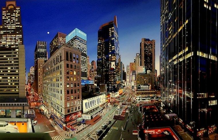 fotorealistische Stadtszenerie-Gemälde Bertrand_Meniel_04