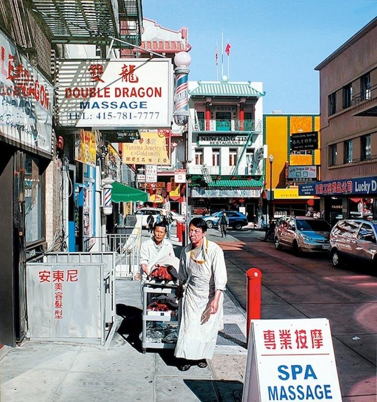 fotorealistische Stadtszenerie-Gemälde Bertrand_Meniel_05
