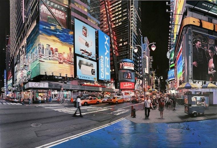 fotorealistische Stadtszenerie-Gemälde Bertrand_Meniel_07