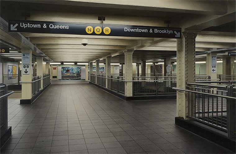 Realistisch gemalte U-Bahn-Stationen Hisaya_Taira_02