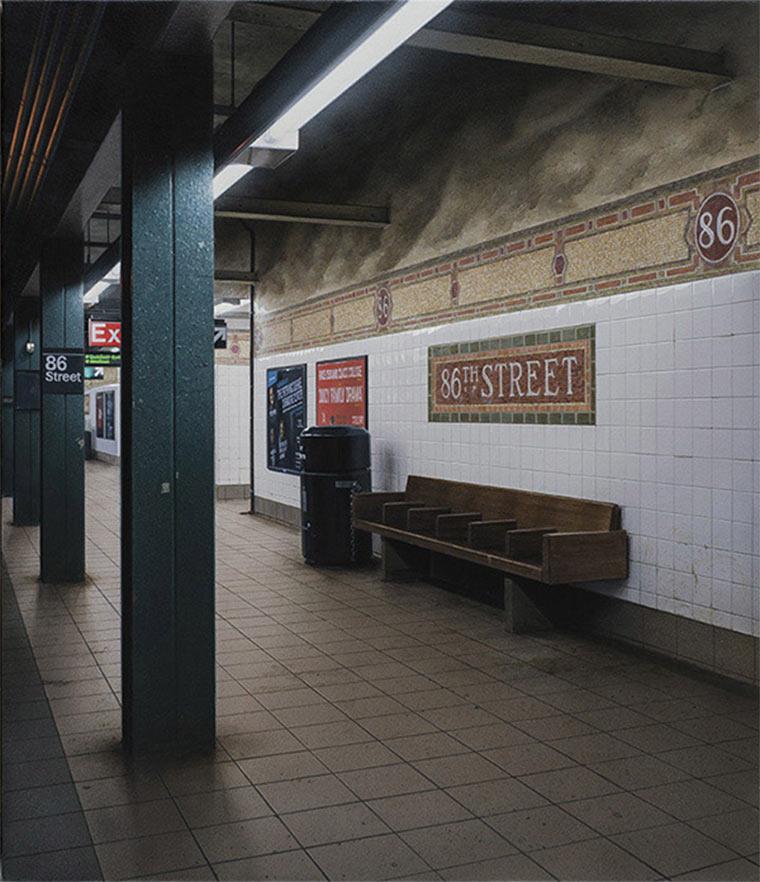 Realistisch gemalte U-Bahn-Stationen Hisaya_Taira_03