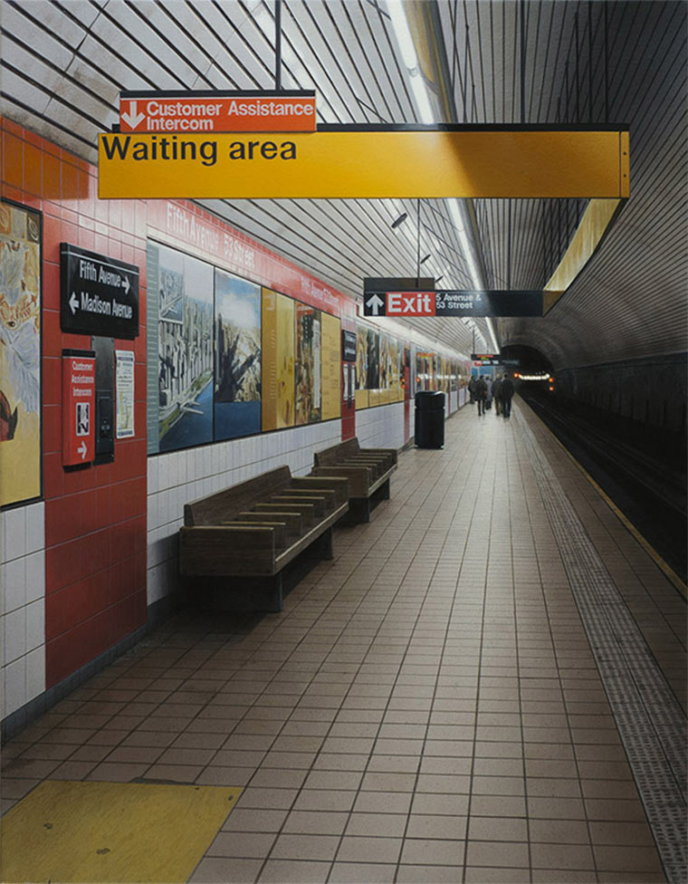 Realistisch gemalte U-Bahn-Stationen Hisaya_Taira_05