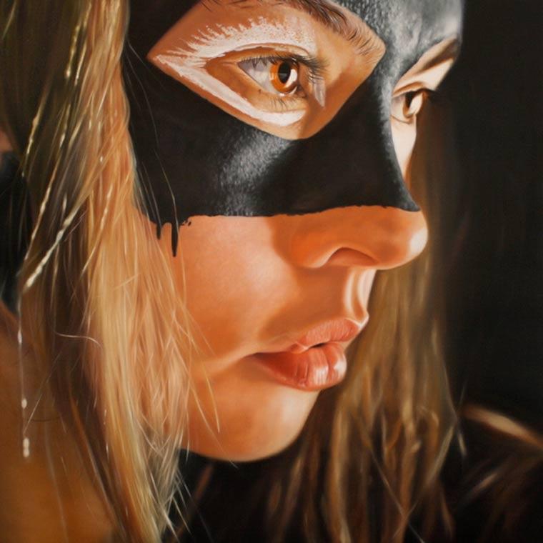 realistische Malerei: sexy Superheldinnen