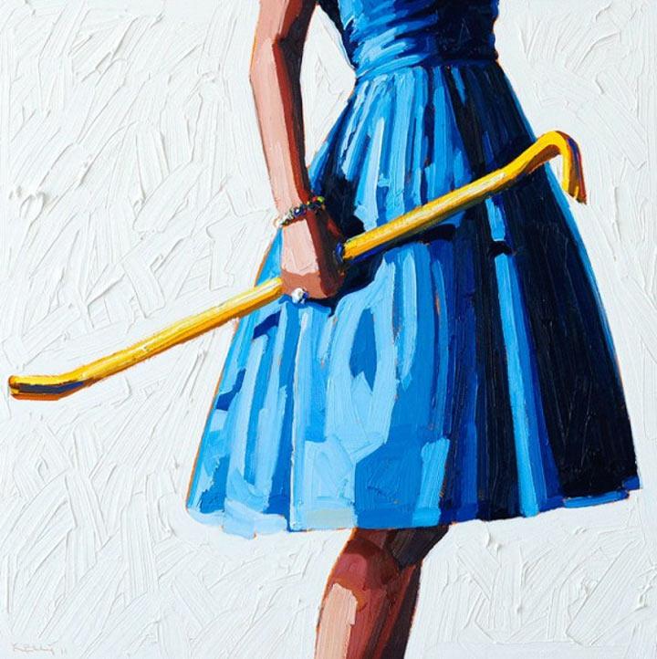 Malerei: Frauen mit Dingen Kelly_Reemsten_05