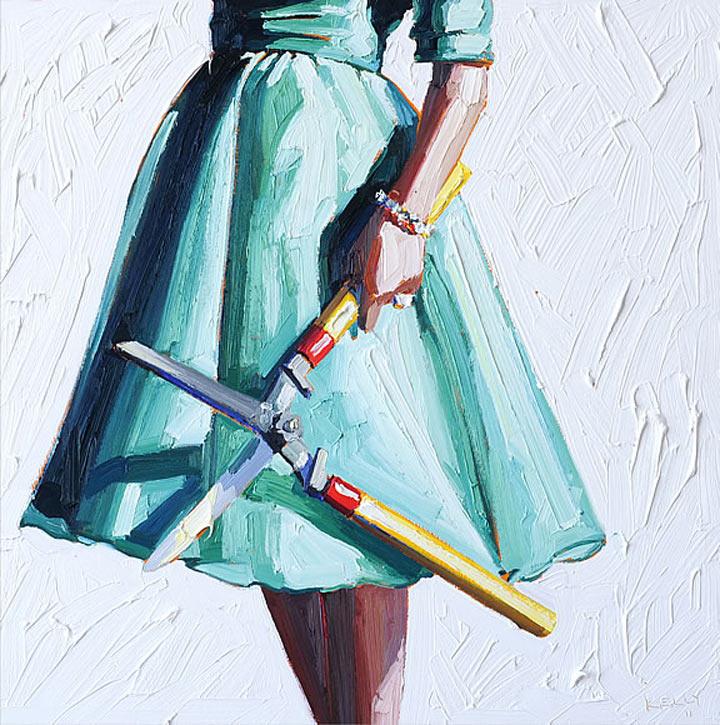 Malerei: Frauen mit Dingen Kelly_Reemsten_06