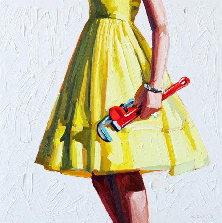 Malerei: Frauen mit Dingen Kelly_Reemsten_07