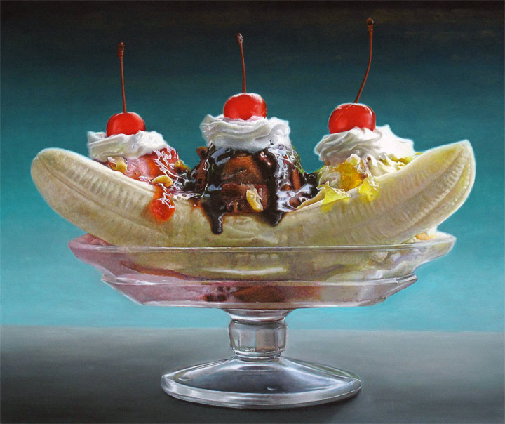 hyper realistic dessert paintings by Mary Ellen Johnson
