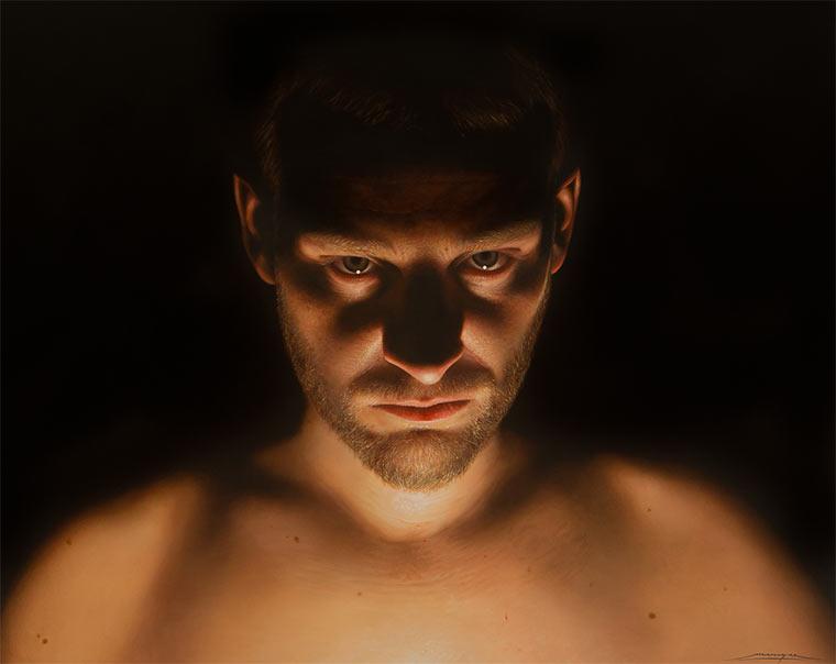 Hyperrealistische Malerei: Alejandro Monge Monge_01