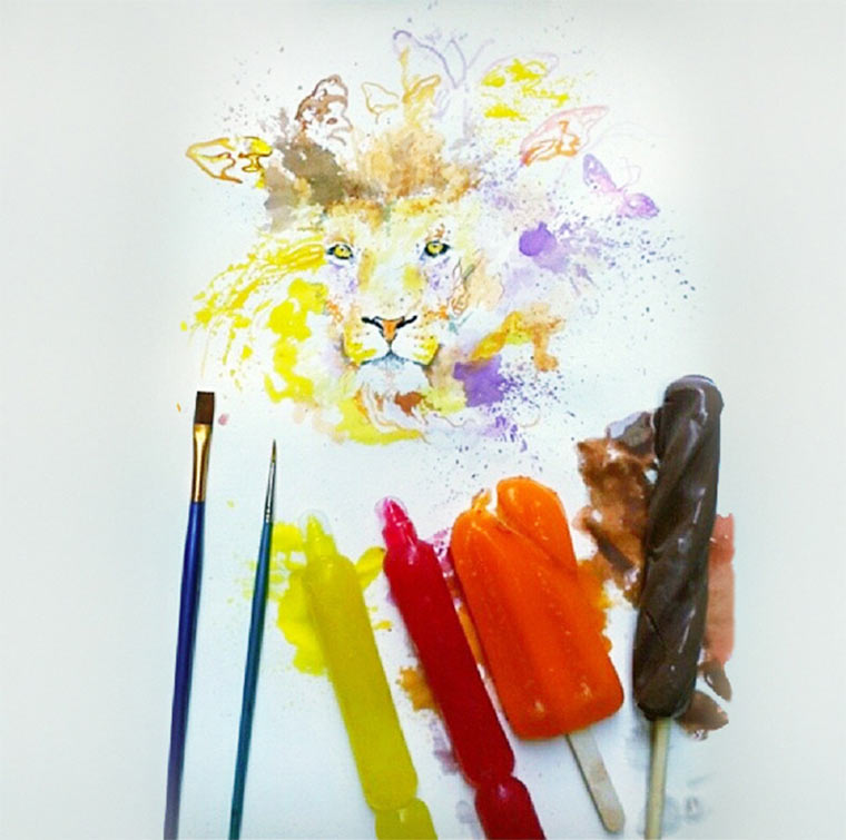 Gemälde aus Eiscreme Othman-Toma_01