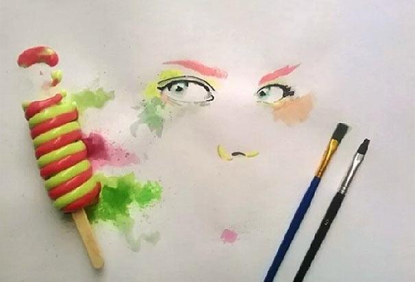 Gemälde aus Eiscreme Othman-Toma_04