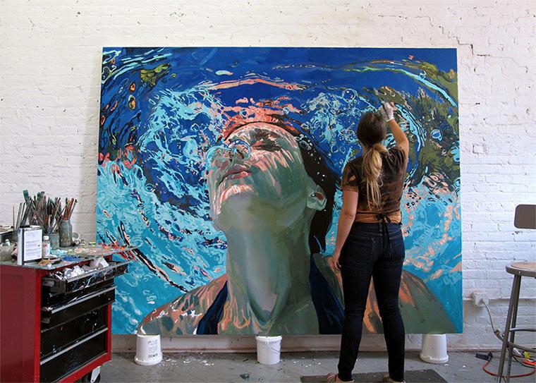 Gemalte Unterwasser-Portraits Samantha_French_07