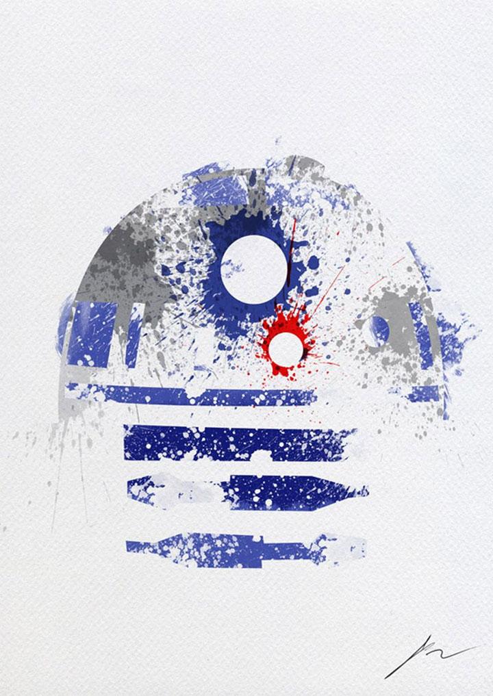 Sensationelle Star Wars-Charakter-Gemälde