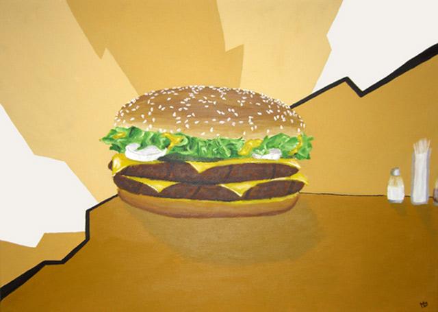 Hyperrealistische Gemälde von Essen maikzehrfeld_burger