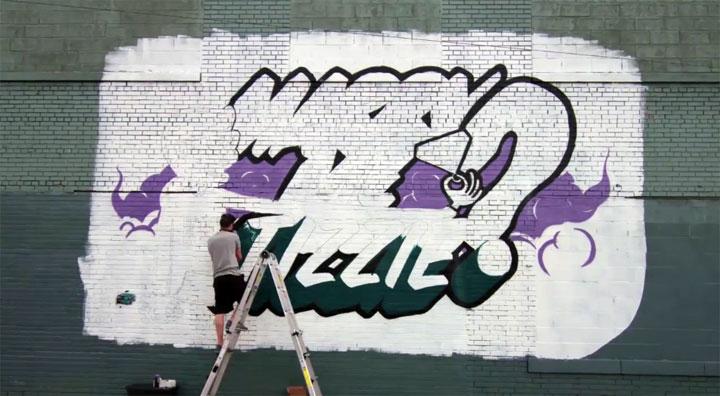 Heiratsantrag per Graffiti
