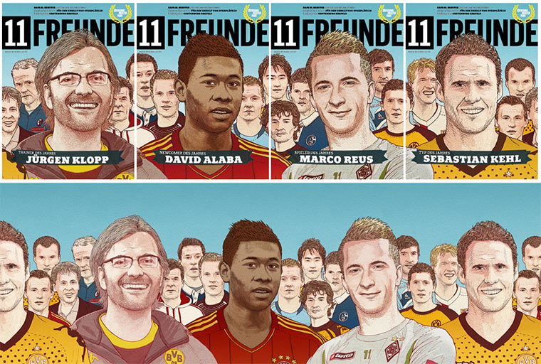 Illustration: 11 Freunde Split-Cover 11freunde_Splitcover_02