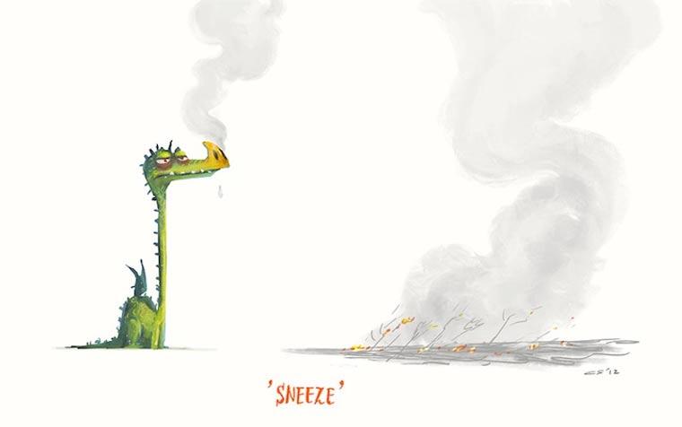 Zufallsbegriffe wunderbar illustriert: Charles Santoso