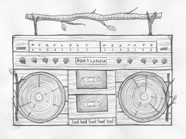 Illustration: Making of hölzerne Boombox DKNG_portlandia_01