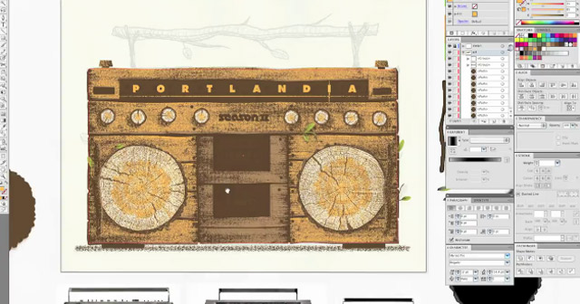Illustration: Making of hölzerne Boombox