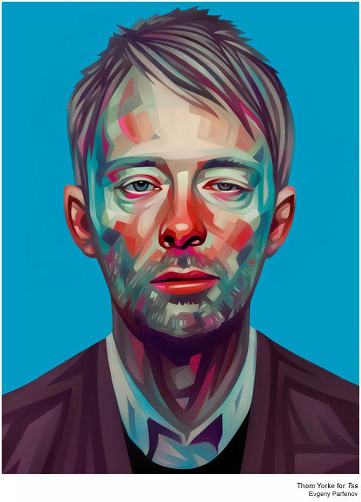 bunte Illustration: Promi-Portraits von Evgeny Parfenov Evgeny_Parfenov_03