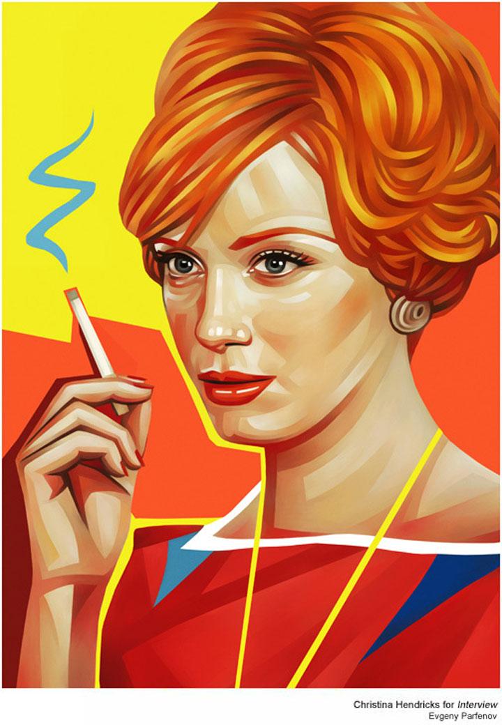 bunte Illustration: Promi-Portraits von Evgeny Parfenov Evgeny_Parfenov_07