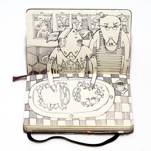 Notizbuchillustration: The Last Supper