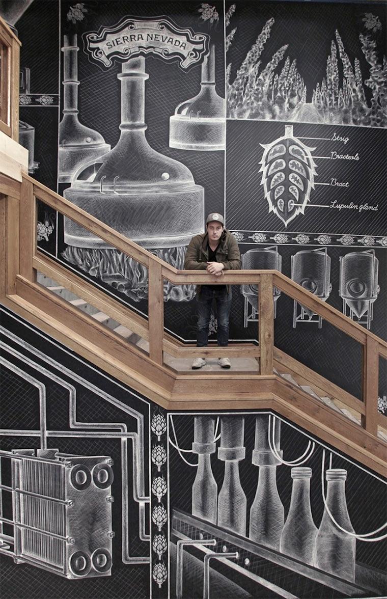 Kreideillustration im Brauhaus Sierra-Nevada-Brewerie_shalk_02