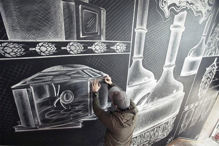 Kreideillustration im Brauhaus Sierra-Nevada-Brewerie_shalk_04
