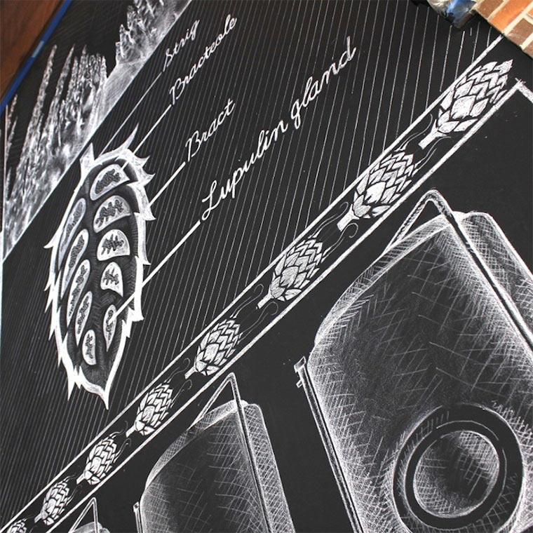 Kreideillustration im Brauhaus Sierra-Nevada-Brewerie_shalk_06