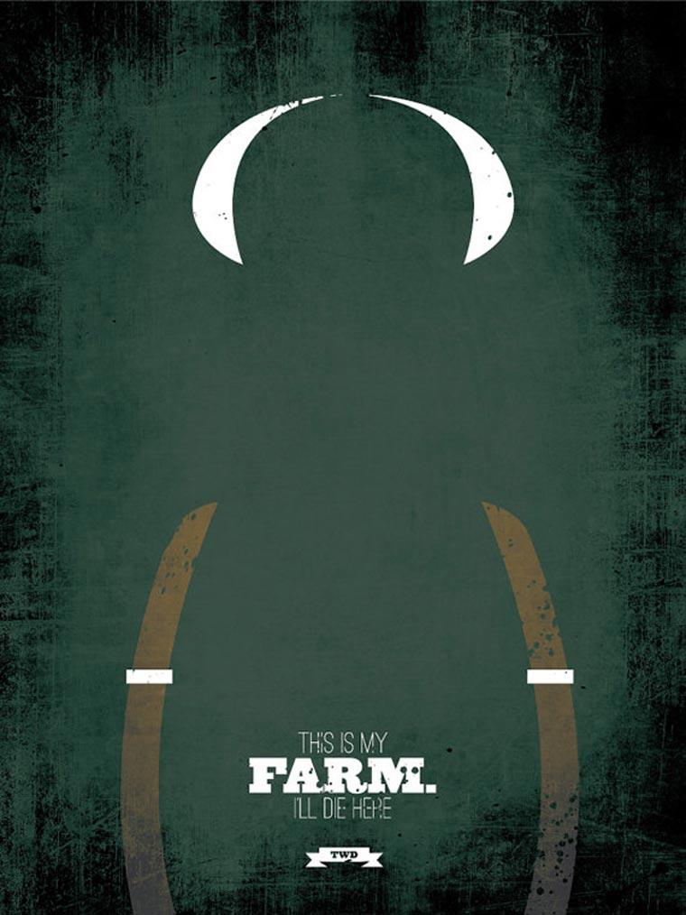 The Walking Dead: Minimalistische Poster TWD_minimalistic_posters_03
