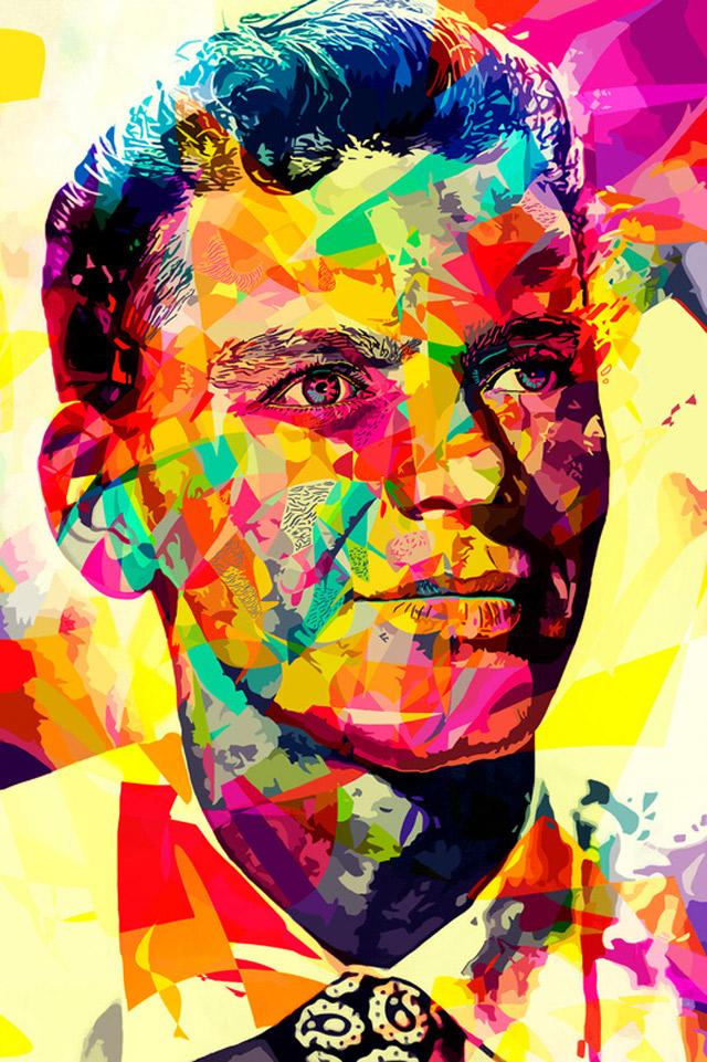 Knallbunte Vektor-Portraits: Alessandro Pautasso abstract_colors_03