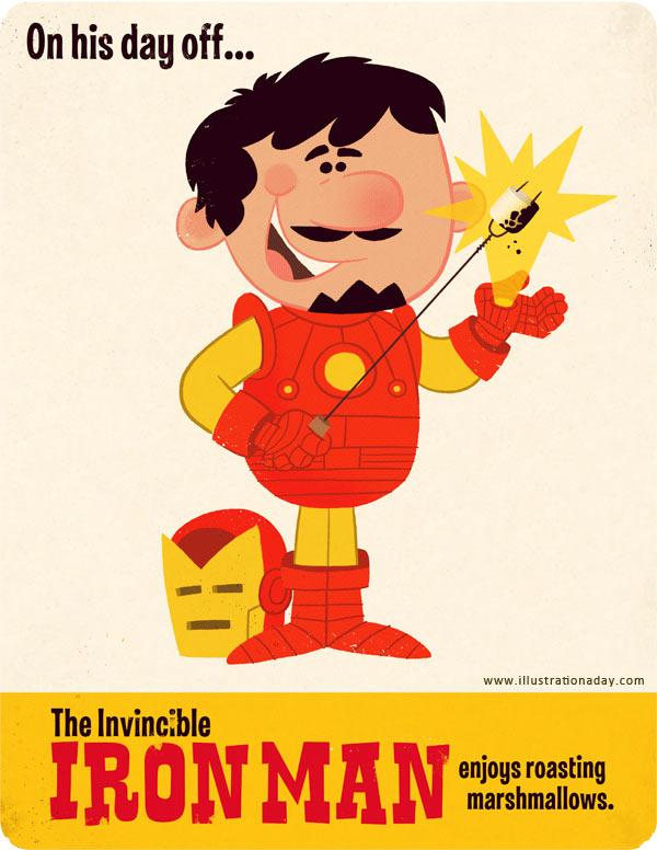 Illustration: Die Avengers haben einen Tag frei avengers_day_off_02