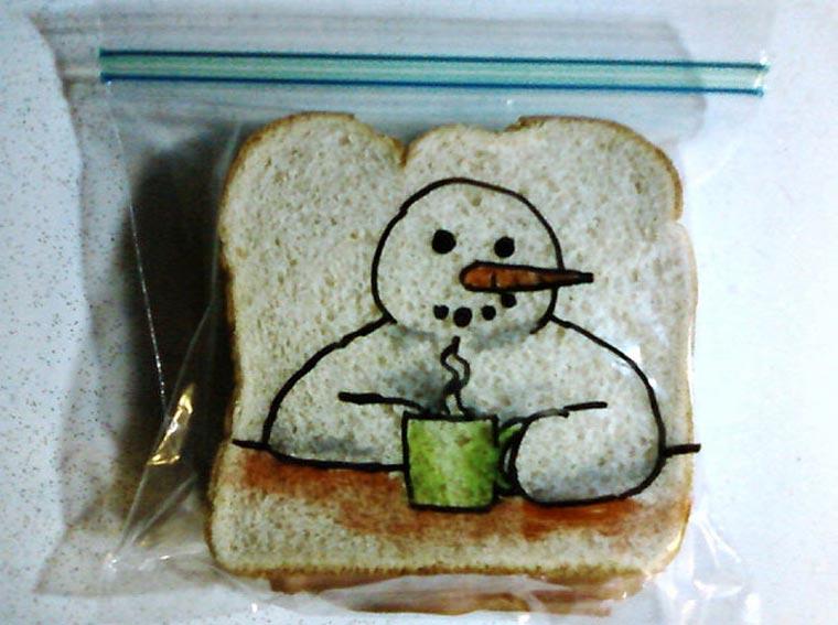 Vater bemalt täglich Sandwichtüten der Kinder dads_sandwich-bags_02