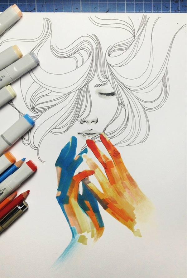 Illustration & Timelapse: Elfan elfandiary_dailytimelapse_04