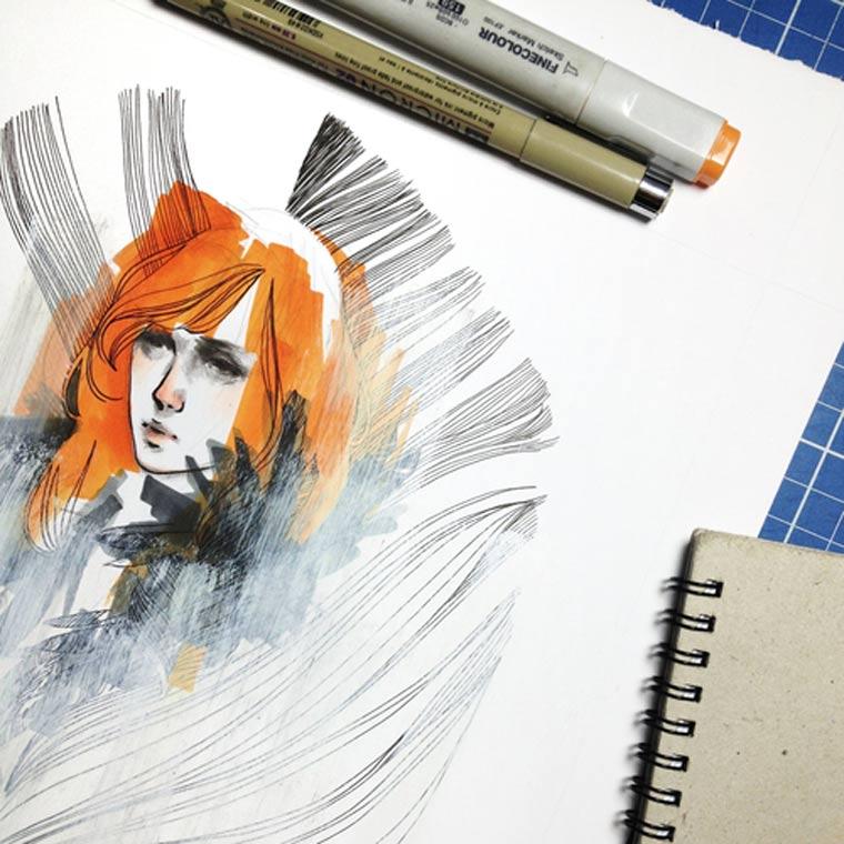 Illustration & Timelapse: Elfan elfandiary_dailytimelapse_07