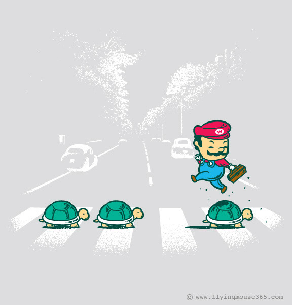 Humorvolle T-Shirt-Illustrationen: Flying Mouse