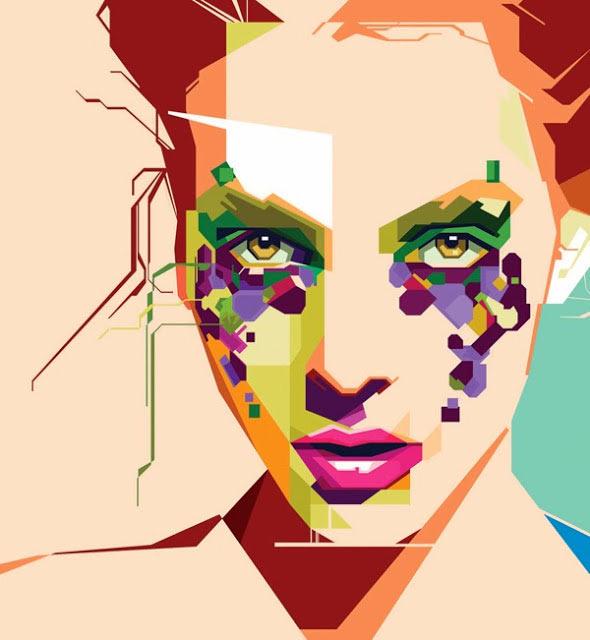Geometrische Illustrations-Portraits von MIIM geometricportraits_03