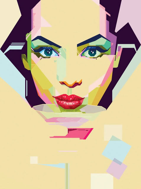 Geometrische Illustrations-Portraits von MIIM geometricportraits_04