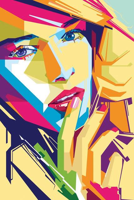 Geometrische Illustrations-Portraits von MIIM geometricportraits_05