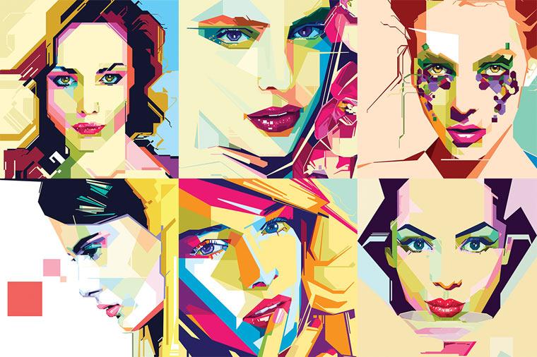 Geometrische Illustrations-Portraits von MIIM geometricportraits_08