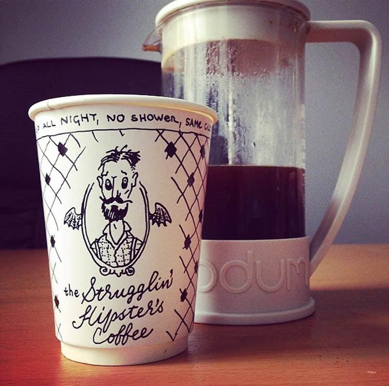 Kaffeebecher-Illustrationen luftaffe_05