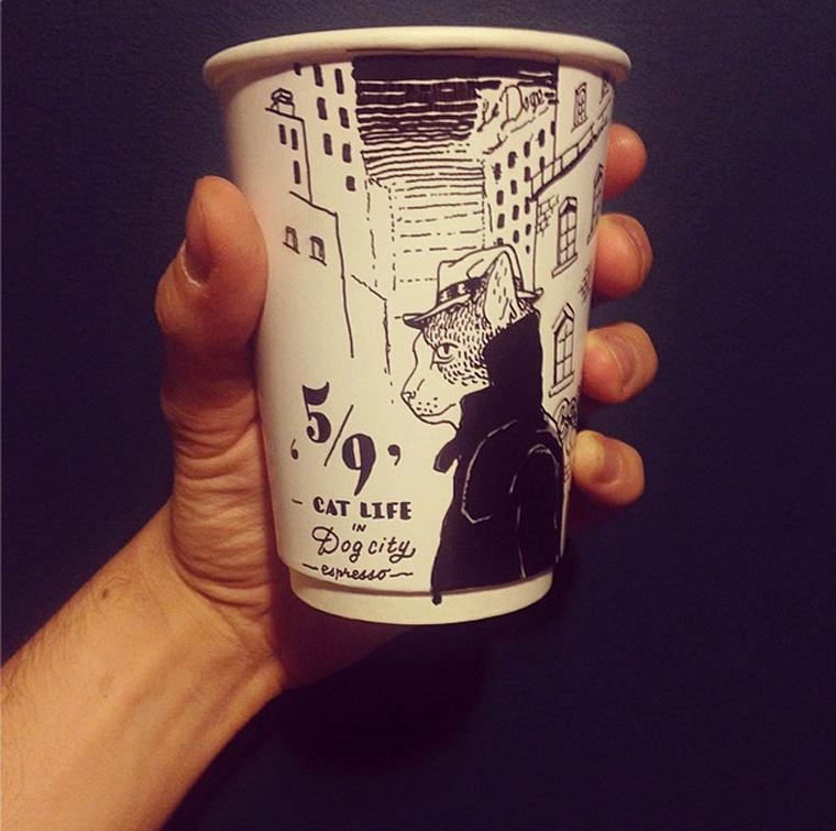 Kaffeebecher-Illustrationen luftaffe_09