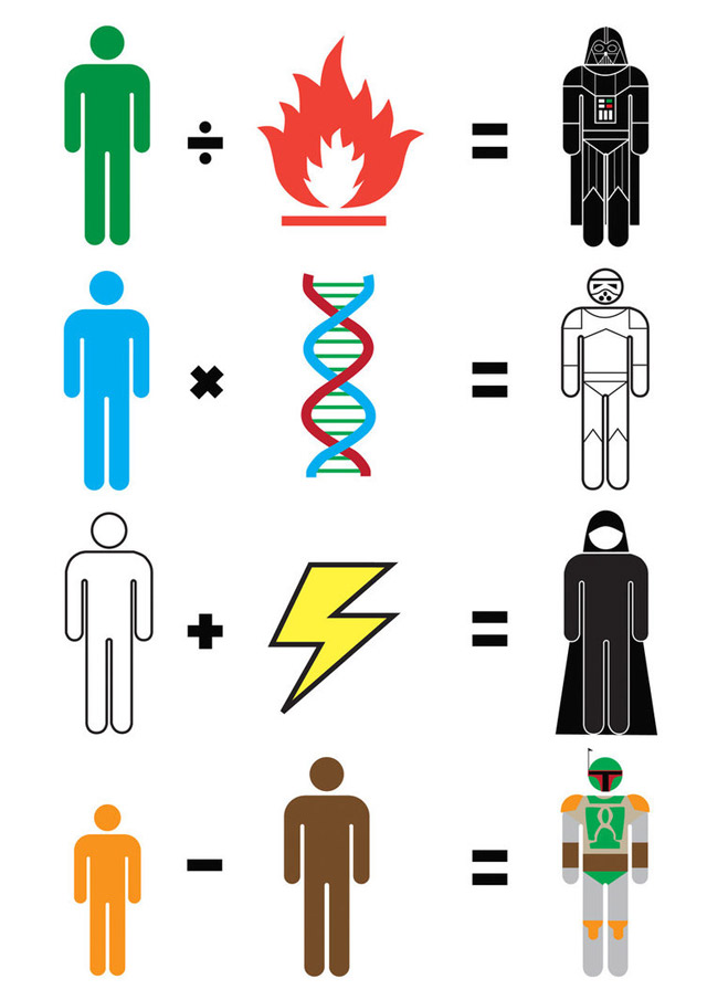 Illustration: Simplified movie heroes movie_maths_02
