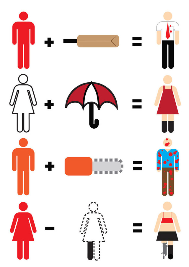 Illustration: Simplified movie heroes movie_maths_03