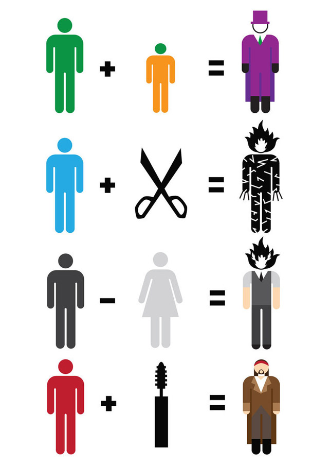 Illustration: Simplified movie heroes movie_maths_04