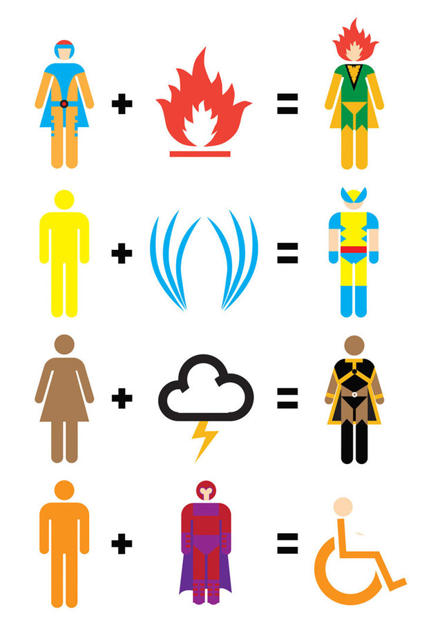 Illustration: Simplified movie heroes movie_maths_08